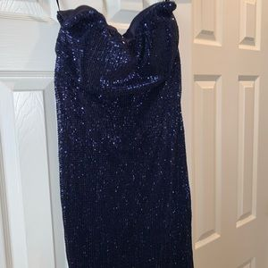 Formal gown navy blue